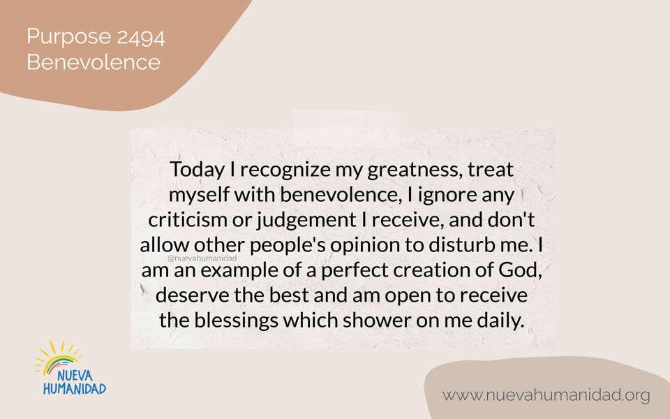 Purpose 2494 Benevolence