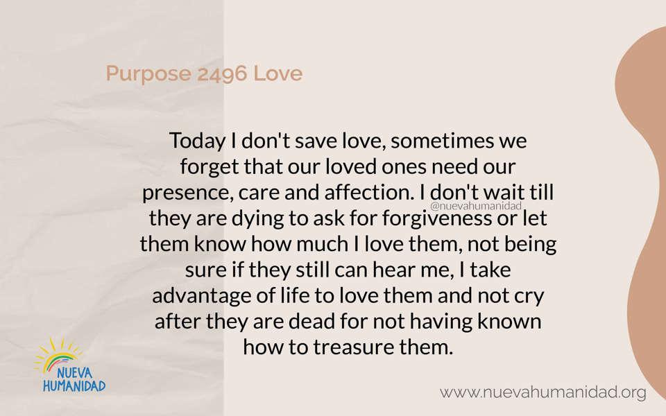 Purpose 2496 Love