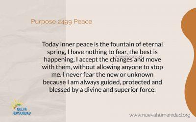 Purpose 2499 Peace