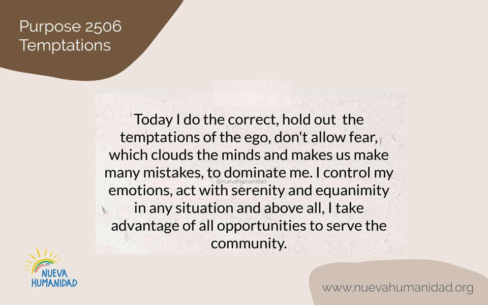 Purpose 2506 Temptations