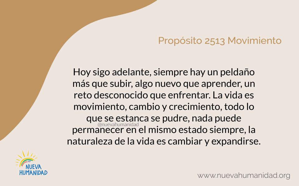 Propósito 2513 Movimiento