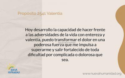 Propósito 2541 Valentía