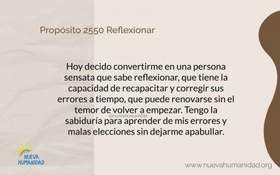 Propósito 2550 Reflexionar
