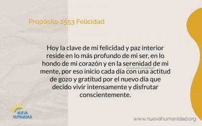 Propósito 2553 Felicidad