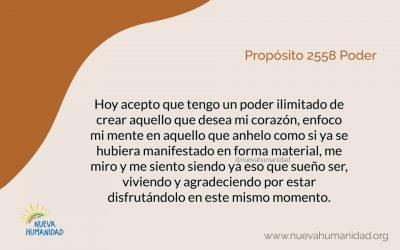 Propósito 2558 Poder
