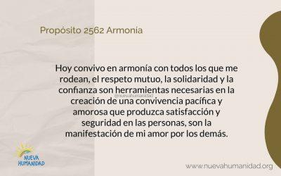 Propósito 2562 Armonía