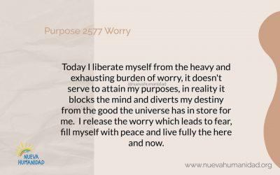 Purpose 2577 Worry