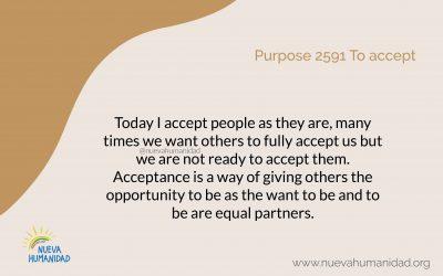 Purpose 2591 To accept
