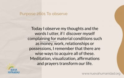 Purpose 2601 To observe