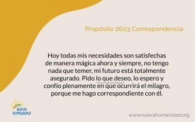 Propósito 2603 Correspondencia