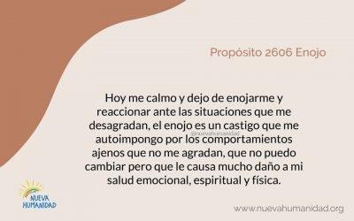 Propósito 2606 Enojo