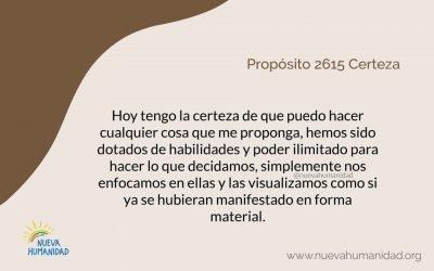 Propósito 2615 Certeza