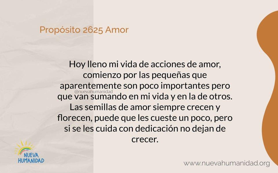 Propósito 2625 Amor