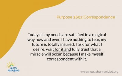 Purpose 2603 Correspondence