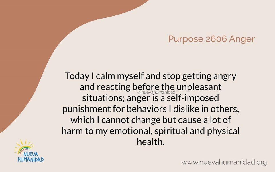 Purpose 2606 Anger