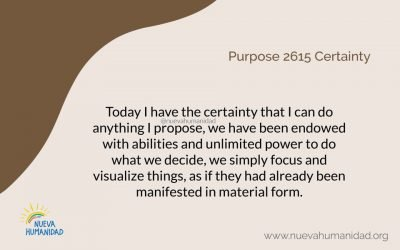 Purpose 2615 Certainty
