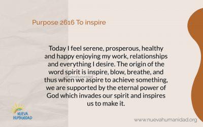 Purpose 2616 To inspire