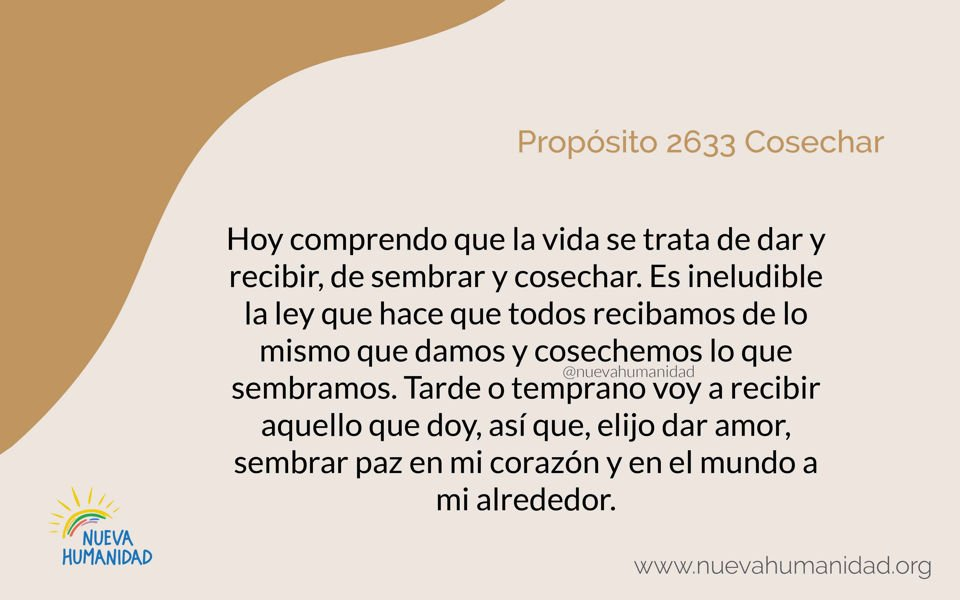 Propósito 2633 Cosechar