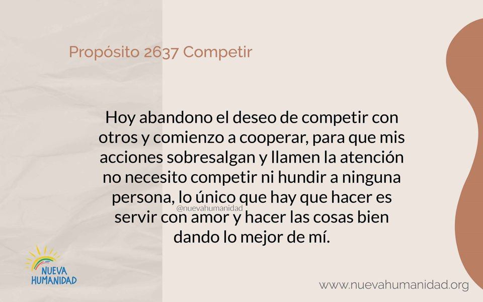 Propósito 2637 Competir