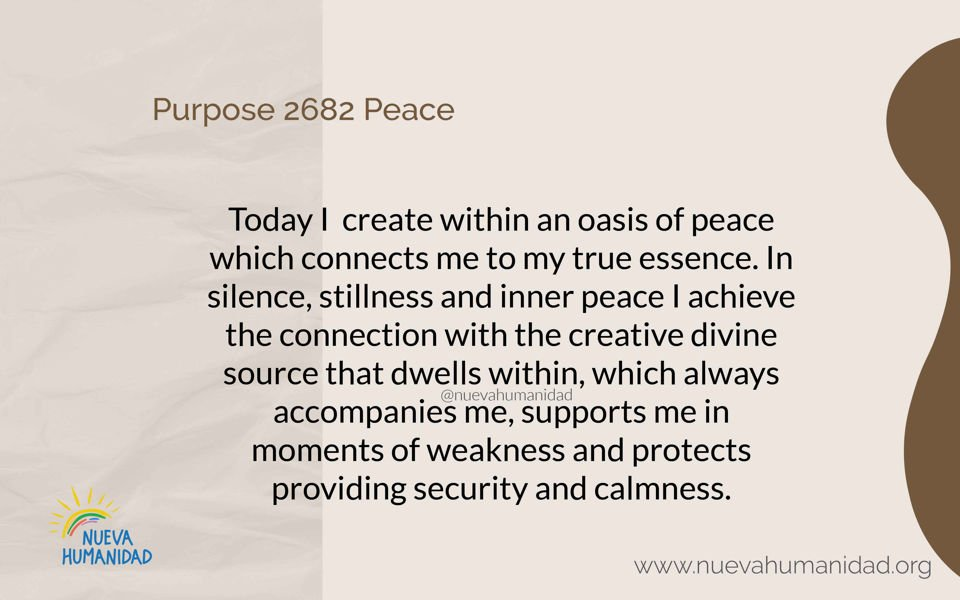 Purpose 2682 Peace