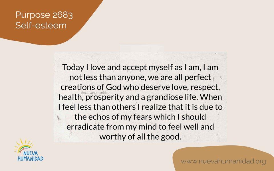 Purpose 2683 Self-esteem