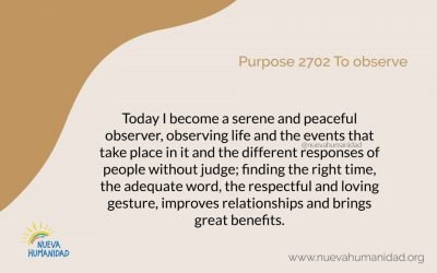 Purpose 2702 To observe