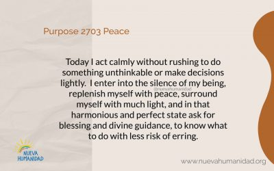 Purpose 2703 Peace