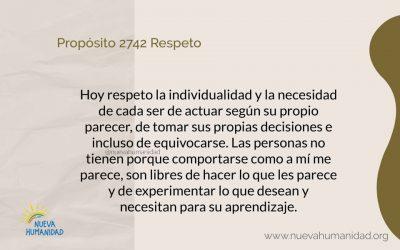 Propósito 2742 Respeto