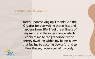 Purpose 2739 Gratitude