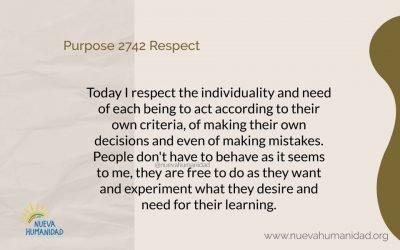 Purpose 2742 Respect