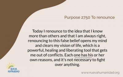 Purpose 2750 To renounce