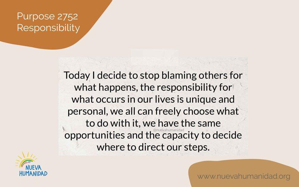 Purpose 2752 Responsibility