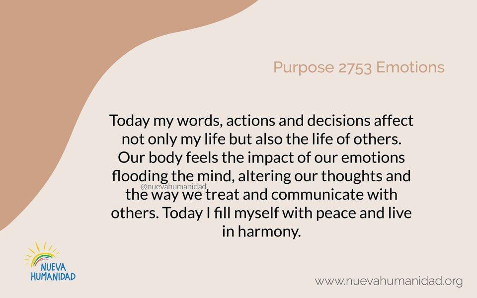 Purpose 2753 Emotions