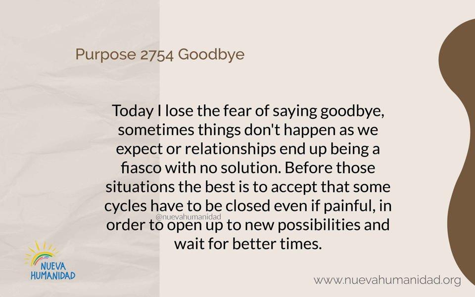Purpose 2754 Goodbye