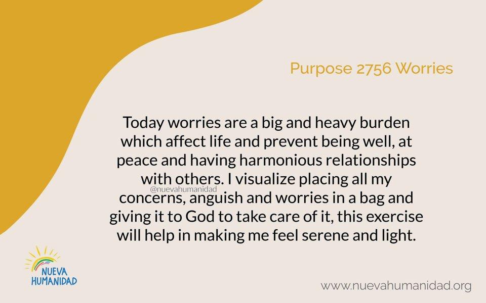 Purpose 2756 Worries