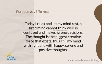 Purpose 2778 To rest