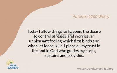 Purpose 2780 Worry