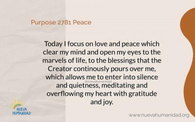 Purpose 2781 Peace