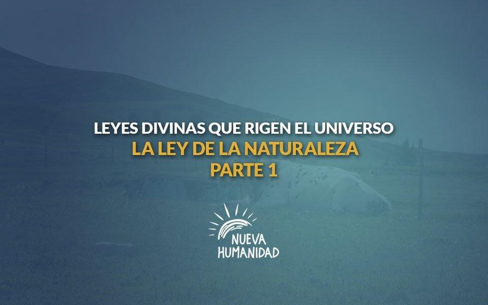 Nueva Humanidad - La ley de la naturaleza - Primera parte. Leyes divinas que rigen el universo