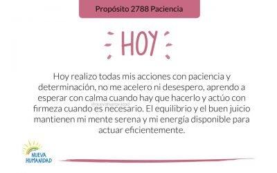 Propósito 2788 Paciencia