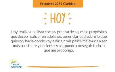 Propósito 2789 Claridad
