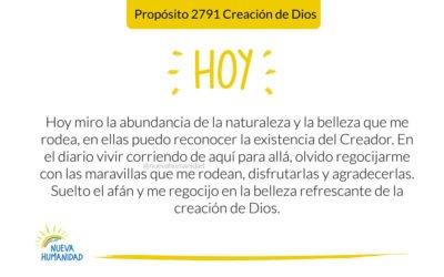 Propósito 2791 Creación de Dios
