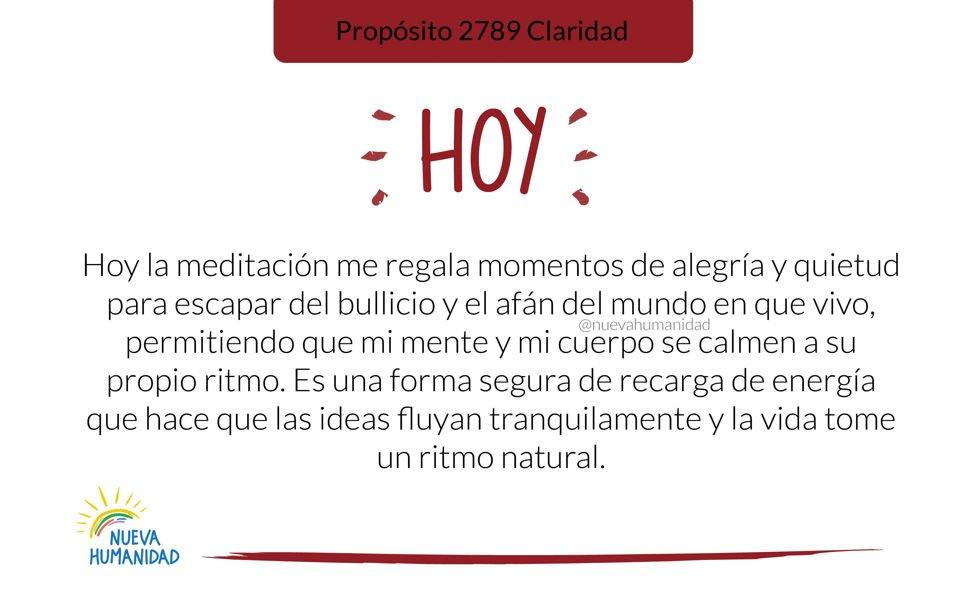 Propósito 2792 Meditación