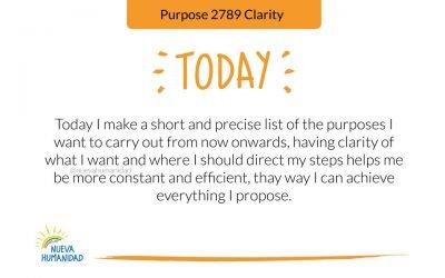 Purpose 2789 Clarity