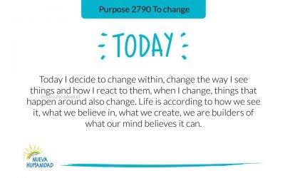 Purpose 2790 To change