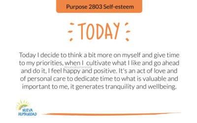 Purpose 2803 Self-esteem