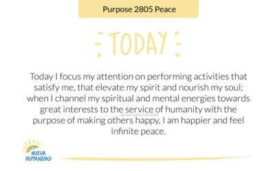 Purpose 2805 Peace