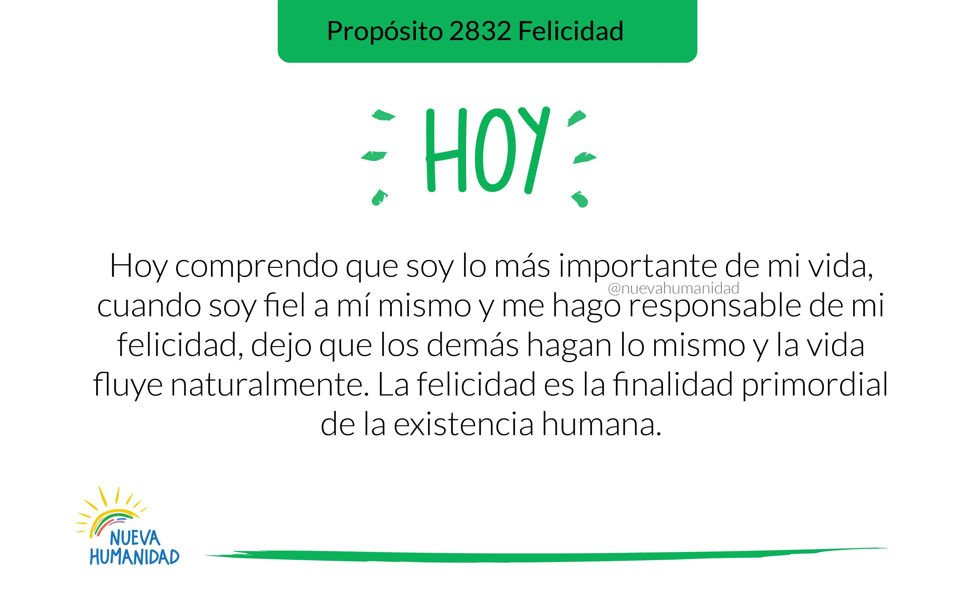 Propósito 2832 Felicidad