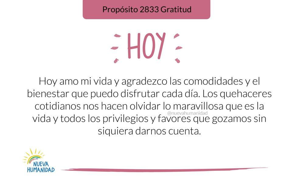 Propósito 2833 Gratitud