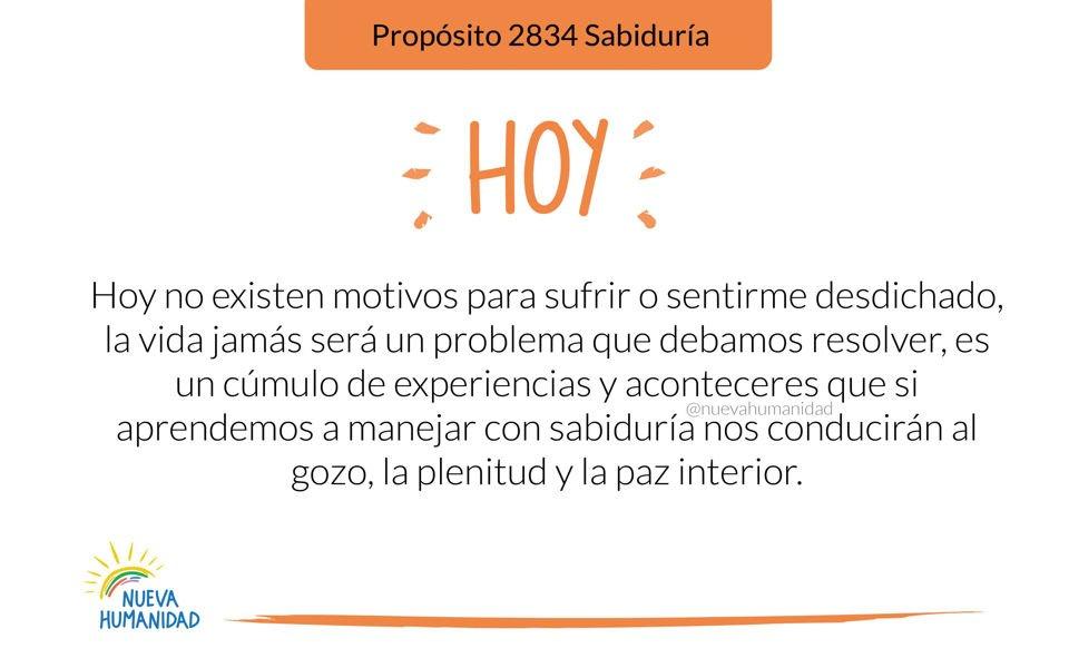 Propósito 2834 Sabiduría